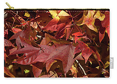 Fall Sweetgum Leaves Df004 Carry-all Pouch