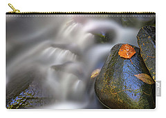 Carry-all Pouch featuring the photograph Fallen Leaf And Mountain Stream by Rick Berk