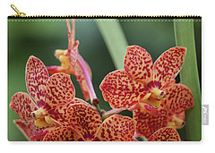 Family Of Orange Spotted Orchids Carry-all Pouch