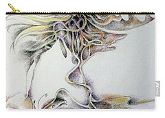 Carry-all Pouch featuring the drawing Fantasy by Rosanne Licciardi
