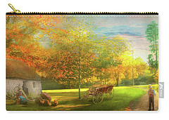 Carry-all Pouch featuring the photograph Farm - End Of A Long Day by Mike Savad - Abbie Shores