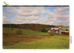 Carry-all Pouch featuring the photograph Farmland In Autumn by Angie Tirado