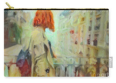 Carry-all Pouch featuring the pastel Feel The Rain by Chris Armytage