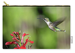 Female Ruby-throated Hummingbird Dsb0320 Carry-all Pouch