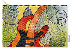 Fender Guitar ..stained Glass Art Work Carry-all Pouch