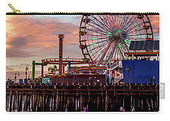 Ferris Wheel On The Pier - Square Carry-all Pouch