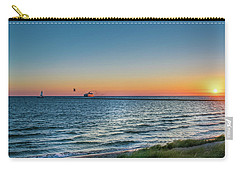 Ferry Going Into Sunset Carry-all Pouch