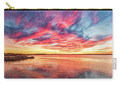 Carry-all Pouch featuring the photograph Fiery Sky by Russell Pugh