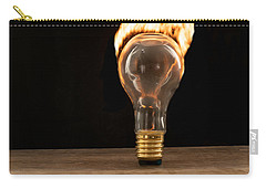 Fire And Flames Ignited Out Of Light Bulb Carry-all Pouch