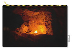 Carry-all Pouch featuring the photograph Fire Inside by Lucia Sirna