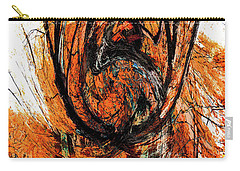 Carry-all Pouch featuring the photograph Fire Tree 2 by Michael Arend