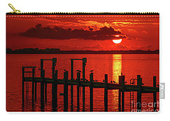 Fireball And Pier Sunrise Carry-all Pouch