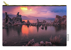 Carry-all Pouch featuring the photograph Fireball by Edgars Erglis
