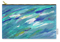 Carry-all Pouch featuring the painting Fish In Water by Dobrotsvet Art