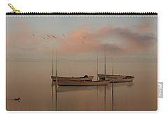 Fishing Boats Resting At Dusk Carry-all Pouch