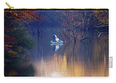 Carry-all Pouch featuring the photograph Fishing In The Fall by Mike Murdock