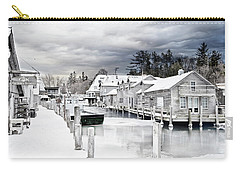 Fishtown Michigan In February Carry-all Pouch