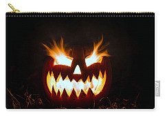 Flaming Pumpkin Carry-all Pouch