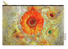Carry-all Pouch featuring the digital art Floral Joy by Edmund Nagele