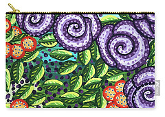 Floral Whimsy 11 Carry-all Pouch