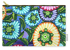 Floral Whimsy 6 Carry-all Pouch