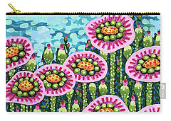 Floral Whimsy 8 Carry-all Pouch