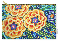 Floral Whimsy 9 Carry-all Pouch