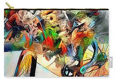 Carry-all Pouch featuring the digital art Flower Bike by Pennie  McCracken