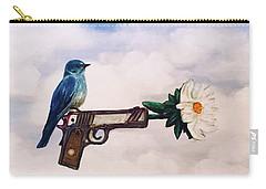Flower In A Gun- Bluebird Of Happiness Carry-all Pouch