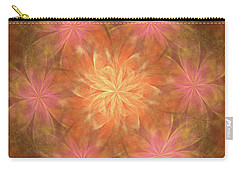 Carry-all Pouch featuring the digital art Flower Power by Angie Tirado