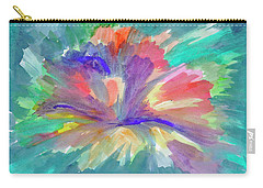 Carry-all Pouch featuring the painting Flowering Abstract 1 by Dobrotsvet Art
