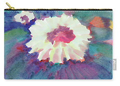 Carry-all Pouch featuring the painting Flowering Abstract 2 by Dobrotsvet Art