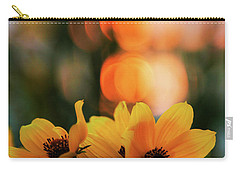 Flowery Bokeh Sunset Carry-all Pouch