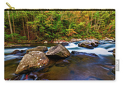 Carry-all Pouch featuring the photograph Flowing Waters by Andy Crawford