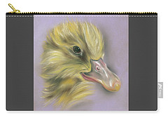 Carry-all Pouch featuring the pastel Fluffy Duckling Portrait by MM Anderson
