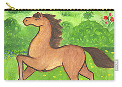 Foal In The Meadow Carry-all Pouch