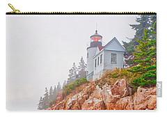 Foggy Bass Harbor Lighthouse Carry-all Pouch