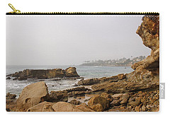 Carry-all Pouch featuring the photograph Foggy Laguna Beach by Brian Eberly