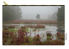 Carry-all Pouch featuring the photograph Foggy Morning At Cloverdale Farm by Kristia Adams