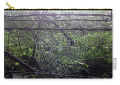 Carry-all Pouch featuring the photograph Foggy Web by Ericamaxine Price