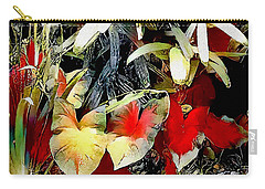 Carry-all Pouch featuring the digital art Foilage by Pennie McCracken