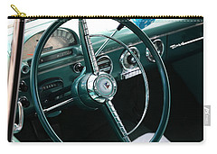 Carry-all Pouch featuring the photograph 1955 Ford Fairlane Steering Wheel by Debi Dalio