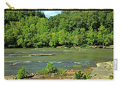 Carry-all Pouch featuring the photograph Forest At Cumberland River by Angela Murdock