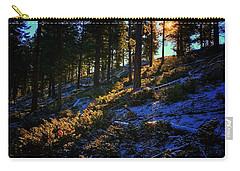 Carry-all Pouch featuring the photograph Forest Sunrise by Dan Miller