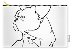 French Bulldog Gesture Sketch Carry-all Pouch