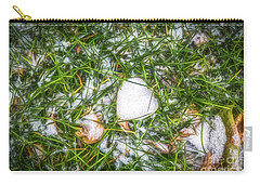 Carry-all Pouch featuring the photograph Fresh Snow by Jon Burch Photography