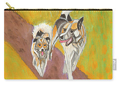 Carry-all Pouch featuring the painting Friends by Dobrotsvet Art