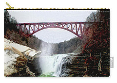 Frletchworth Railroad And Falls Carry-all Pouch