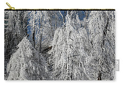 Frosted Trees Carry-all Pouch