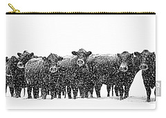 Frosty Faces Black Angus Cows Montana Carry-all Pouch